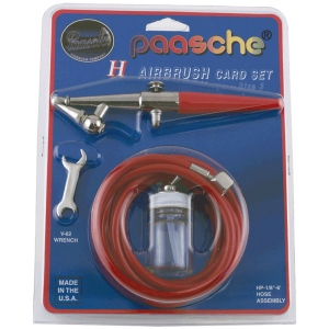 Paasche H-CARD Single Action Airbrush Airbrush Set