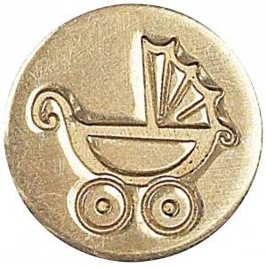 Manuscript Decorative Wax Sealing Coin Pram; Shape: Round; Size: 15 mm; (model MSH727PRM), price per each