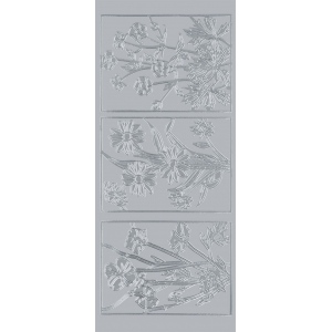 "Blue Hills Studio™ DesignLines™ Outline Stickers Silver #18; Color: Metallic; Size: 4"" x 9""; Type: Outline; (model BHS-DL018), price per pack"