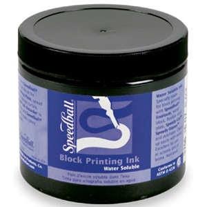 Speedball® Water Soluble Block Printing Ink 16 oz. Black; Color: Black/Gray; Format: Tube; Ink Type: Water Soluble; Size: 16 oz; Type: Block Printing; (model H3700), price per each