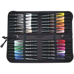 Prismacolor® Premier Art Marker 24-Color Set; Color: Multi; Double-Ended: Yes; Ink Type: Alcohol-Based, Dye-Based; Tip Type: Extra Broad Nib, Fine Nib; (model BP24C), price per set