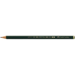 Faber-Castell® 9000 Black Lead Pencil 4B; Color: Black/Gray; Degree: 4B; (model FC119004), price per dozen (12-pack)