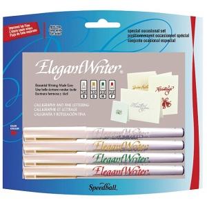 Speedball® Elegant Writer® Calligraphy 4-Color Marker Set; Color: Multi; Ink Type: Dye-Based; Tip Type: Broad Nib, Fine Nib, Medium Nib; Type: Calligraphy; (model S2886), price per set
