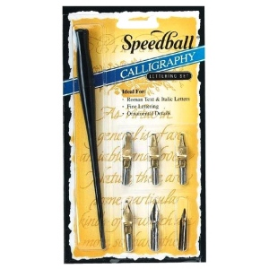 Speedball® Calligraphy Lettering Set; Pen Holder: Yes; Type: Calligraphy; (model H2961), price per set