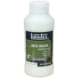Liquitex® Matte Medium 8oz; Finish: Matte; Format: Bottle; Size: 8 oz; (model 5108), price per each