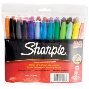Sharpie® Fine Point Permanent Marker 24-Color Set: Multi, Fine Nib, (model SN75846), price per set