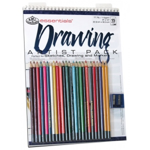 "Royal & Langnickel® Essentials™ Drawing Artist Pack: Wire Bound, Multi, 10 Sheets, 9"" x 12"", (model RD504), price per 10 Sheets"