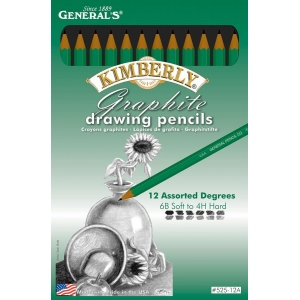 Kimberly® Drawing Pencil Set: Black/Gray, (model G525-12A), price per set