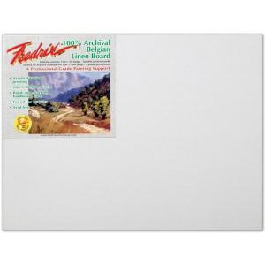 "Fredrix® PRO Series 9 x 12 Archival Linen Canvas Board: White/Ivory, Panel/Board, Linen, 9"" x 12"", Archival, (model T3426), price per each"