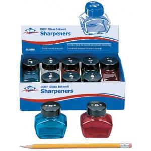Alvin® DUX® Glass Inkwell Sharpener Display Assortment: One, Glass, Manual, (model DX2580D), price per pack