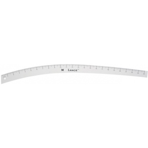 "Lance® 24"" Hip Curve; Color: White/Ivory; Material: Aluminum; Size: 24""; Type: Curve; (model HC024), price per each"