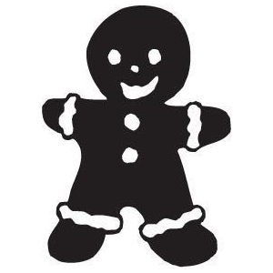 Sarasota Stamps Mounted Rubber Stamp Gingerbread Man ; Material: Rubber; Mounted: Yes; (model SSB-3076), price per each