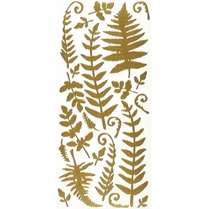 """Dazzles™ Stickers Gold Fern; Color: Metallic; Size: 4"""" x 9""""; Type: Outline; (model HOTP2111), price per each"""