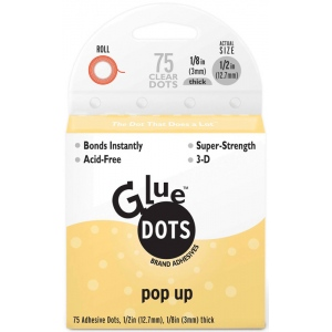Glue Dots® Perforated Removable Sheets: Clear, Round, (model GD12296), price per each