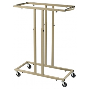 Alvin® Mobile Racks for up to 18 Blueprints; Capacity: 18 Hanging Clamps; Color: Brown; Material: Steel; (model BPR059-18), price per each