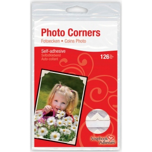 Scrapbook Adhesives™ Paper Photo Corners Ivory: White/Ivory, Paper, 126-Pack, (model 01629-10), price per 126-Pack