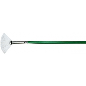Princeton™ Better Synthetic Bristle Oil and Acrylic Brush Fan 6; Grade: Better; Length: Long Handle; Material: Synthetic Bristle; Shape: Fan; Type: Acrylic, Oil; (model 6100FN-6), price per each