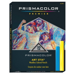 Prismacolor® Art Stix® 12-Color Set; Color: Multi; Format: Stick; Type: Soft; (model AS1952), price per set