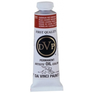 Da Vinci Artists' Oil Color Paint 37ml Cadmium Red Medium: Red/Pink, Tube, 40.6 ml, Oil, (model DAV111), price per tube