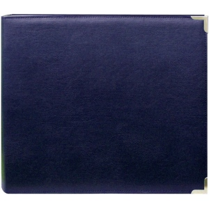 """Pioneer® 12 x 12 3-Ring Scrapbook Binder Navy Oxford; Color: Blue; Material: Leatherette; Size: 12"""" x 12""""; (model TM12NOX), price per each"""