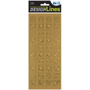 "Blue Hills Studio™ DesignLines™ Outline Stickers Gold #21; Color: Metallic; Size: 4"" x 9""; Type: Outline; (model BHS-DL021), price per pack"