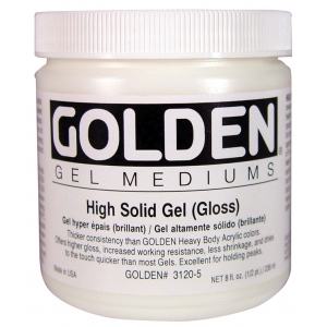 Golden High Solid Gel: Gloss, 16 oz. (473ml)