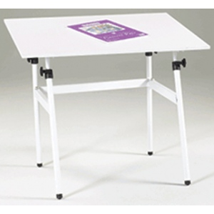 "Martin Berkley White Table & 30"" x 42"" C Top Only in White: Model # U-DS1400C"