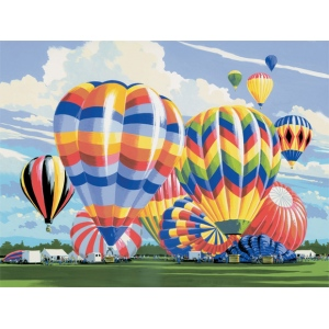 "Royal & Langnickel® Painting by Numbers™ 12 3/4 x 15 3/4 Adult Set Ballooning; Board Size: 12 3/4"" x 15 3/4""; (model PAL5), price per set"