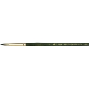 Princeton™ Best Synthetic Bristle Acrylic and Oil Brush Round 1 : Best, Long Handle, Synthetic Bristle, Round, Acrylic, Oil, (model 6200R-1), price per each