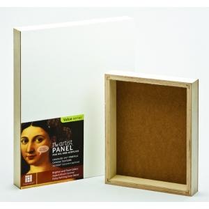 "Ampersand Gallery Profile 1 1/2"" Cradled Artist Panel: 11"" x 14"", Case of 5"