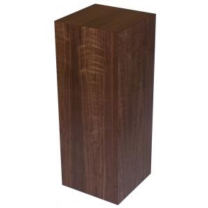 "Xylem Walnut Wood Veneer Pedestal: 18"" X 18"" Size, 12"" Height"