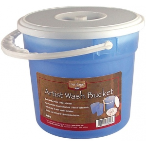 Heritage Arts™ Artist Wash Bucket: Blue, Plastic, 4 ltr, Cleaning Basin, (model BCB76), price per each