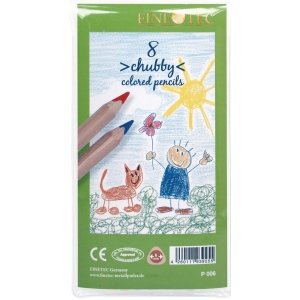 Finetec Chubby Colored Pencil 8-Color Set; Color: Multi; Format: Pencil; (model P006), price per set