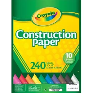 "Crayola® 9"" x 12"" Construction Paper Pack 240 Sheets: Multi, Sheet, 240 Sheets, 9"" x 12"", (model 99-3200), price per 240 Sheets"