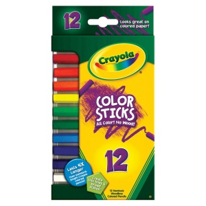 Crayola® Woodless Color Sticks Pencil 12-Color Set: Multi, Pencil, (model 68-2312), price per pack