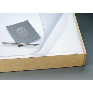 "Alvin® VYCO Translucent Board Cover 37 1/2"" x 72"" Sheet: Clear, White/Ivory, Sheet, Vinyl, 37 1/2"" x 72"", (model VBC55-10), price per each"