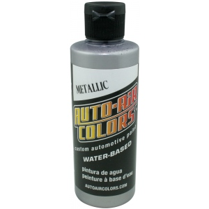 Auto-Air Colors™ Airbrush Paint 4oz Metallic Silver; Color: Metallic; Format: Bottle; Size: 4 oz; Type: Airbrush; (model 4332-04), price per each