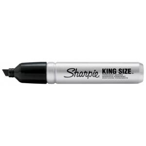 Sharpie® King Size Permanent Markers: Black/Gray, Chisel Nib, (model SN15001), price per each