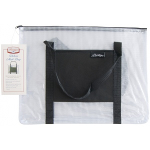 "Alvin® NBH Deluxe Series Deluxe Mesh Bag 12"" x 16""; Color: Black/Gray, Clear; Material: Mesh, Vinyl; Size: 12"" x 16""; (model NBH1216), price per each"