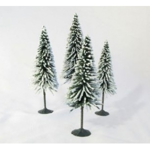 "Wee Scapes™ Architectural Model Trees Snow Spruce; Color: Green; Material: Wire; Quantity: 4-Pack; Size: 3 1/2"" - 5""; Type: Tree; (model WS00330), price per 4-Pack"