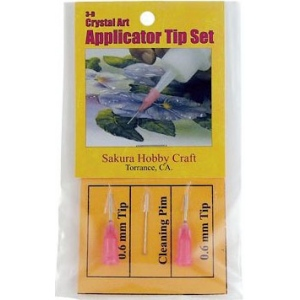 Sakura Hobby Craft 3D Crystal Lacquer Applicator Tips; Type: Tips; (model SHC01772), price per pack