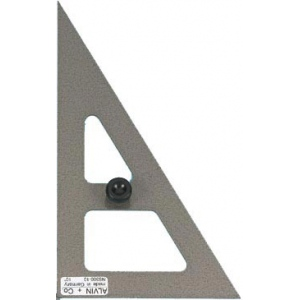 "Alvin® ; Angle: 30/60; Color: Black/Gray, Clear; Material: Steel; Size: 10""; Type: Triangle; (model NS360-10), price per each"
