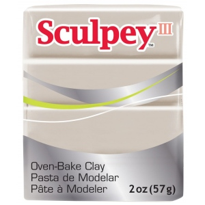 Sculpey® III Polymer Clay Elephant Gray; Color: Black/Gray; Format: Bar; Material: Polymer; Size: 2 oz; (model S3021645), price per each