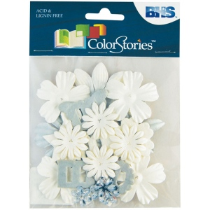 "Blue Hills Studio™ ColorStories™ Handmade Paper Potpourri White; Color: White/Ivory; Material: Paper; Size: 2 1/4""; Type: Dimensional; (model BHS10710), price per each"