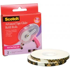 Scotch® Advanced Tape Glider Acid-Free Tape Rolls; Refill: Yes; (model ATG085-RAF), price per pack
