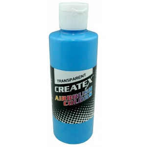Createx™ Airbrush Paint 4oz Caribbean Blue; Color: Blue; Format: Bottle; Size: 4 oz; Type: Airbrush; (model 5105-04), price per each