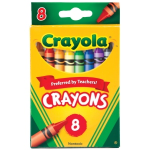 Crayola® Original Crayon 8-Color Set; Color: Multi; Format: Stick; (model 52-3008), price per pack