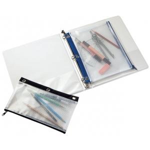 "Alvin® 3-Ring Binder Mesh Bag 8"" x 11"": Assorted, Vinyl, 8"" x 11"", Mesh Bag, (model NBR811), price per each"
