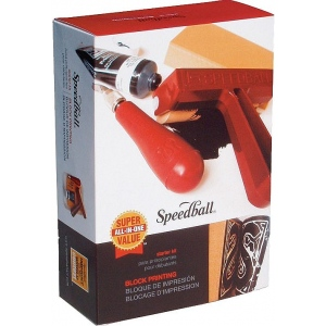 Speedball® Super Value Block Printing Starter Kit; Ink Type: Water Soluble; Type: Kit; (model H3471), price per kit