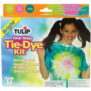 Tulip® One-Step Dye™ Bright Tie-Dye Kit for 8 Shirts; Capacity: 8 Shirts; Color: Multi; Format: Bottle; Ink Type: Tie Dye; (model D23279), price per kit